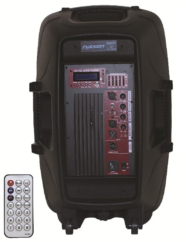 Bafle Bi Amplificado Bocina De 15 Fussion Mp3 Bluetooth Eq ...