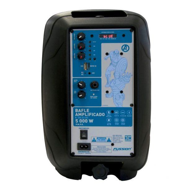 Bocina Recargable Bluetooth De 8 Usb Fm Eco Mic Avengers_2