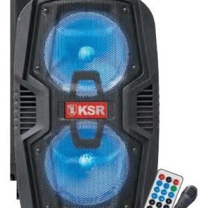Bocina Recargable Bluetooth 2x6.5 Usb Luz Fm Ksr 6520_0