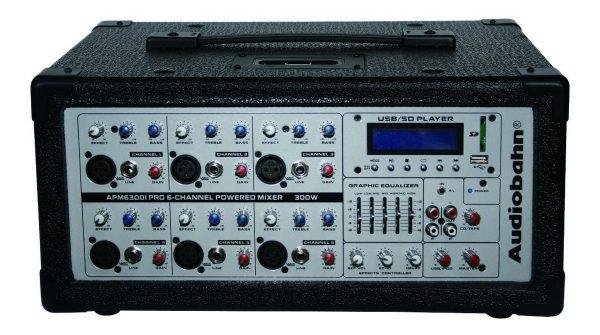 Kit Mezcladora Amplificada 6ch + Bafles Bocina 15 Audiobahn_2