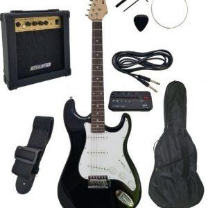Kit Guitarra Electrica Amplificador Bocina Accesorios Bellat_0