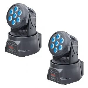 Par De Luces Dj Led Cabeza Movil Wash Digital R G B W 8000_0