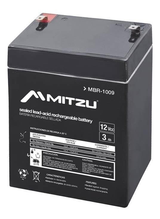 Batería Sellada Recargable De Ácido 12v 3a Mitzu 1009_0