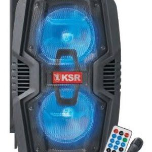 Bocina 2x10 Recargable Bluetooth Usb Luz Fm Ksr 7020_0