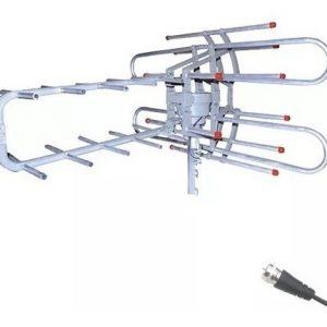 Antena Aérea Giratoria 360° Hdtv Con Booster Mitzu 3020_0