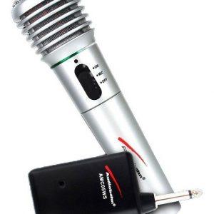 Microfono Alambrico E Inalambrico Karaoke Audiobahn_0