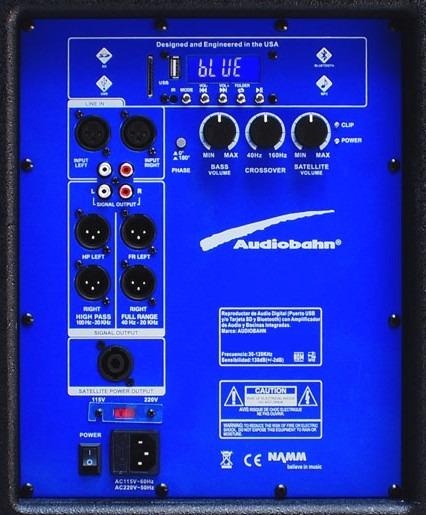 Bafle Subwoofer Bi Amplificado Bocina 18 Texturi Audiobahn_4