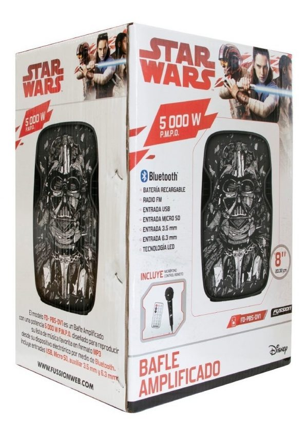 Bocina 8 Recargable Bluetooth Usb Fm Eco Mic Darth V Fussion_1