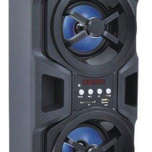 Bocina 2x4 Recargable Bluetooth Fm Usb Control Mitzu 9426_0
