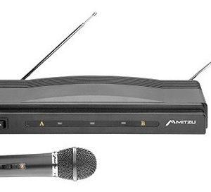 Kit Dos Micrófonos Inalámbricos Vhf 50m Karaoke Mitzu 3002_0
