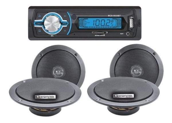Autoestereo Mp3 Usb Sd Fm Aux Bluetooth + 4 Bocinas 9930_0