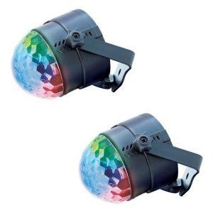Par De Luz Led Multicolor Ball 18w Control Remoto Mitzu 9002_0