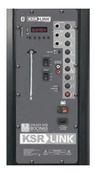 Bocina Recargable Bluetooth Usb Fm Luz Aux Mic 12 Ksr 8012_1