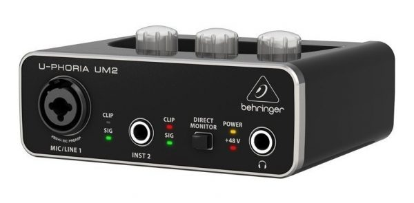 Interfase De Audio Behringer Um2 Grabacion_0