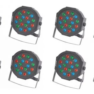 8 Luz Led Par64 18x1 Rgb Con Display Mitzu Cañon 9050_0