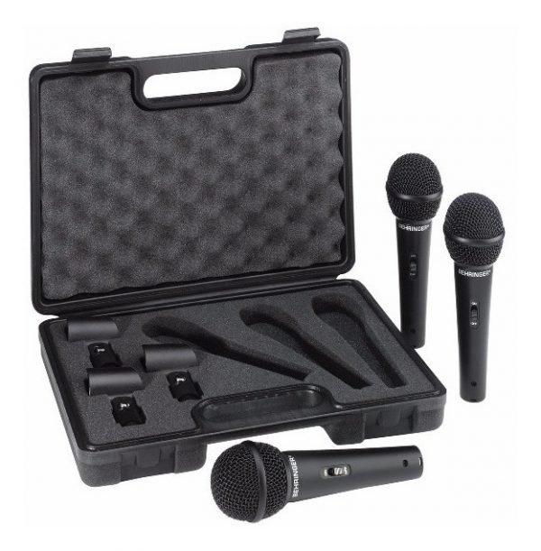 Set 3 Microfonos Dinamicos Alambricos Behringer Xm1800s_0