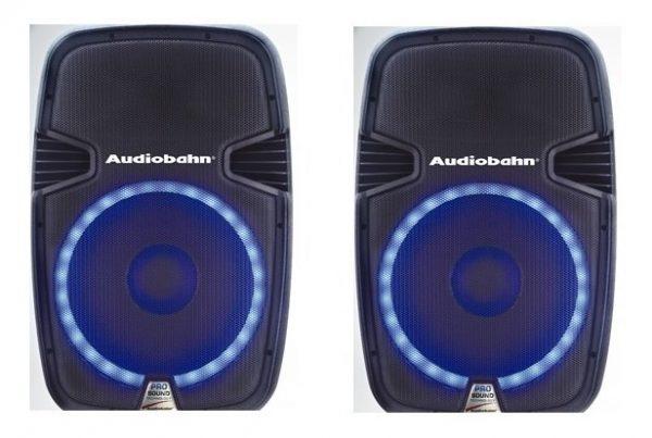 Par De Bafles Bocinas 15 Bluetooth Usb Mp3 Luz Audiobahn_4