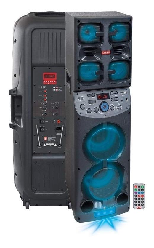Bocina Recargable Bluetooth Usb Fm Luz 7300w Ksr 8016_1