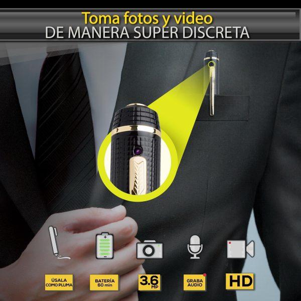 Pluma Espía Con Cámara Hd Audio Video Fotos Spypen Steren_1