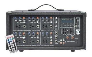 Mezcladora Amplificada 6 Canales Bluetooth Usb Sd Ksr 2306_1