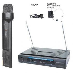 Microfonos Inalambricos De Mano Solapa Y Diadema 50m 3057_0
