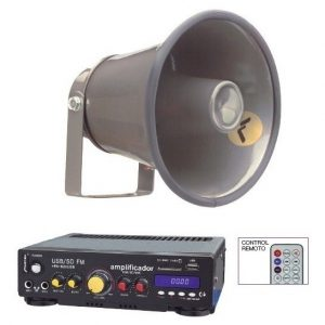 Kit Perifoneo Voceo Amplificador Usb Mas 1 Trompeta 620_0