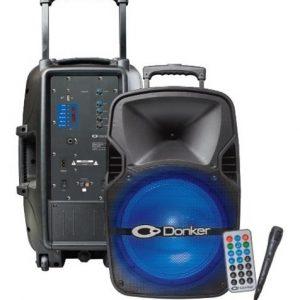 Bocina 12 Recargable Bluetooth Usb Fm Luz Aux Rec 6312_0