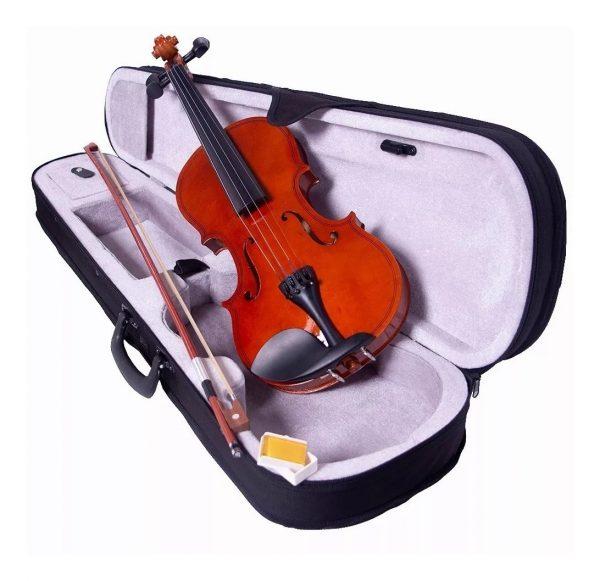 Violin Maple 4/4 Con Estuche Arco Brea Puente Vitale_0