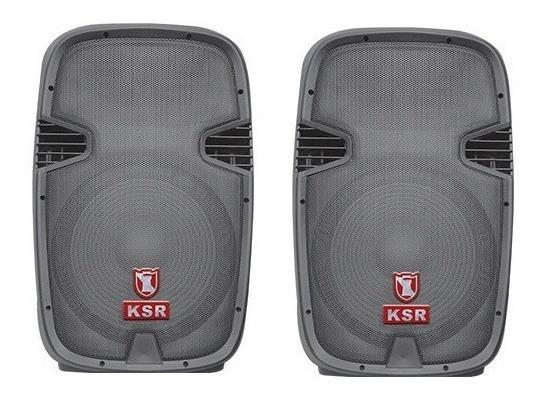 Kit Mezcladora Amplificada 6ch + Bafles Bocina 15 Audiobahn_5