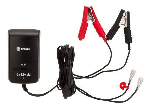 Cargador D Baterias 6-12v Moto Carro Coche Pila Br500 Steren_0
