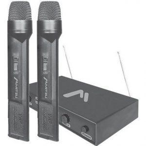 Par De Microfonos Inalambrico Dimamicos 50m Karaoke 3004_0