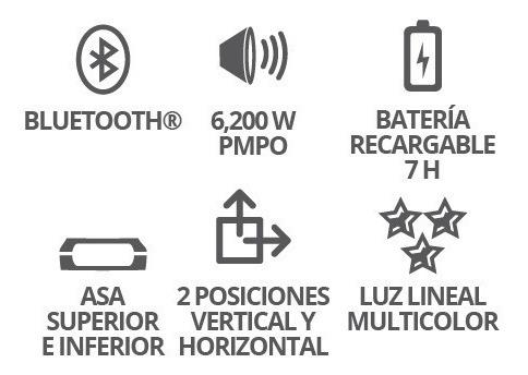 Bocina 8 Recargable Bluetooth Usb Fm Luz Microfono Eco 4008_2
