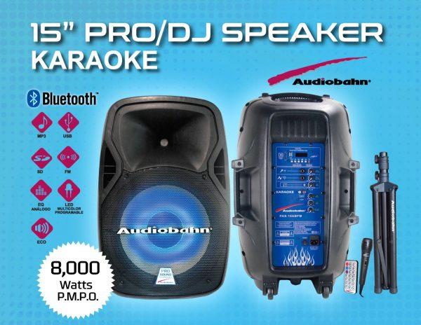 Bocina 15 Amplificado Usb Fm Bluetooth Eco Tripie Audiobahn_1