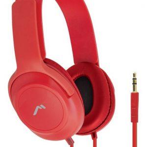 Audífonos Diadema Confort Cable Plano Rojo 5029 _0