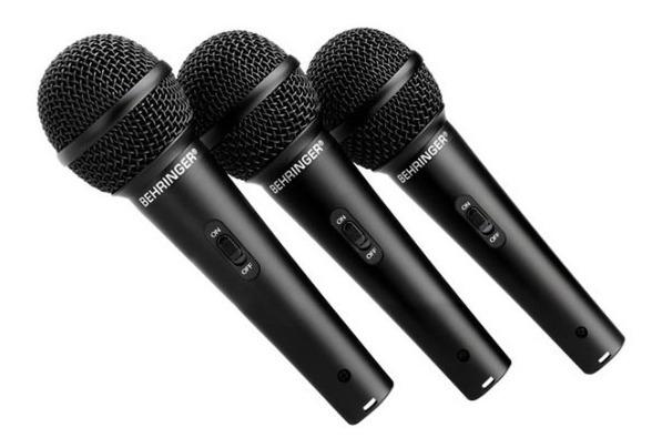 Set 3 Microfonos Dinamicos Alambricos Behringer Xm1800s_2