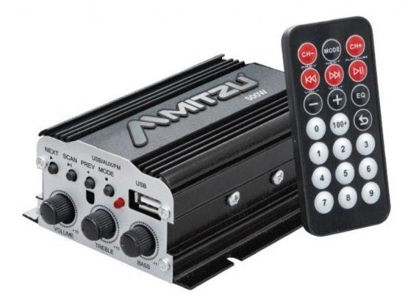 Amplificador 2 Canales Bluetooth Usb Fm Mp3 Mitzu 76bt_0