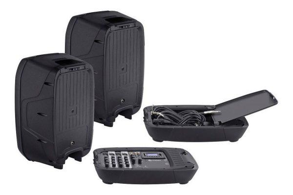 Kit Mezcladora Bluetooth + 2 Bocinas 10 + Tripies Steren 520_4