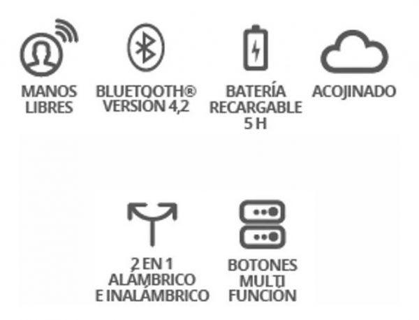 Audífonos Bluetooth Con Manos Libres Recargables 9095_1