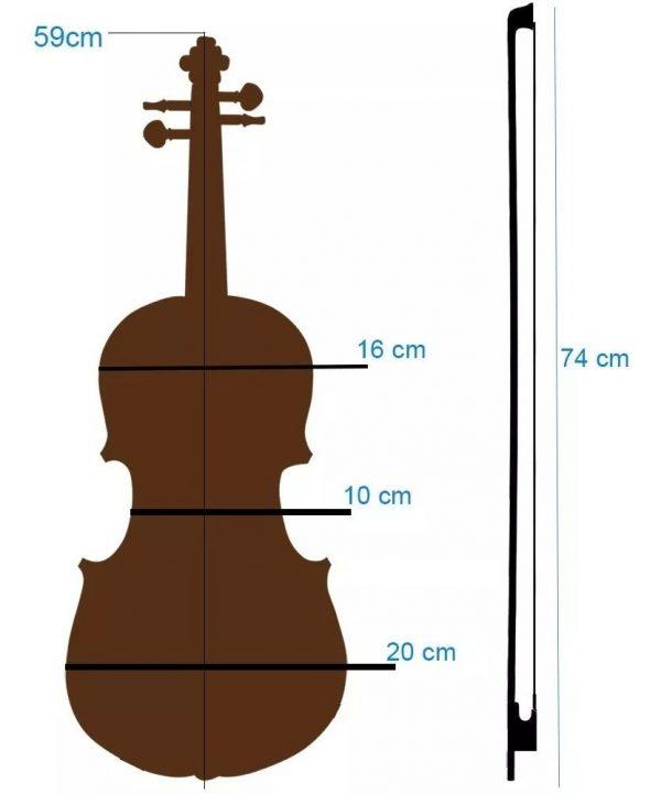 Violin Maple 4/4 Con Estuche Arco Brea Puente Vitale_4