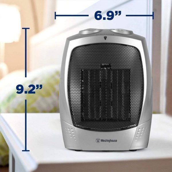 Calentador Eléctrico De Cerámica Calefactor Portatil Westing_3