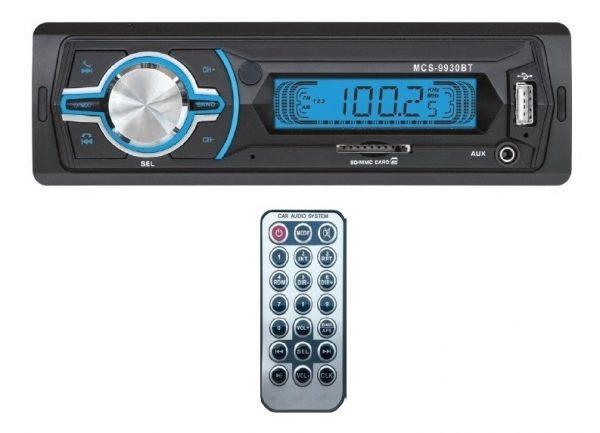 Autoestereo Mp3 Usb Sd Fm Aux Bluetooth + 4 Bocinas 9930_1