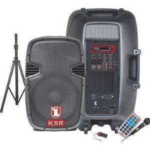 Bafle Amplificad Bocina 15 Bluetooth Fm Usb Microfono 6516_0