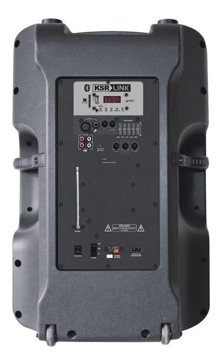 Bocina 18 Recargable Bluetooth Usb Fm Luz Aux Mic 7618_2