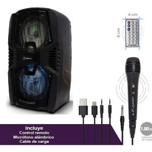Bocina Recargable Bluetooth 6.5 Usb Fm Bafle 6000w Fussion_0