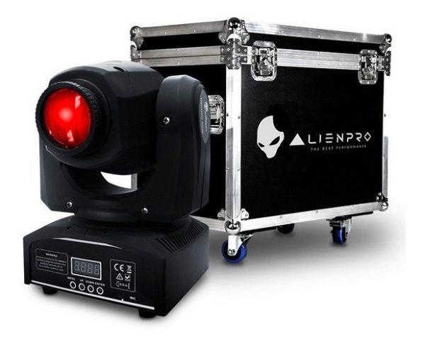 Kit 4 Cabezas Movil Led Luz Beam Rgbw Alien 30w Gobos_1