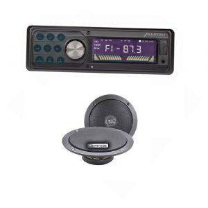 Autoestereo Mp3 Usb Sd Fm Aux Bluetooth 9924 + Par De Bocinas_0