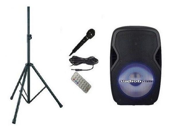 Bocina 15 Amplificado Usb Fm Bluetooth Eco Tripie Audiobahn_0
