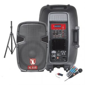 Bocina 15 Bafle Amplificado Ksr Usb Fm Bluetooth Tripie 6515_0