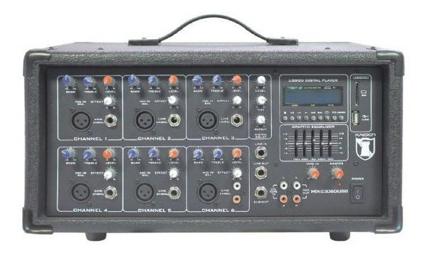 Mezcladora Amplificada 6 Canales Bluetooth Usb Sd Ksr 2306_0