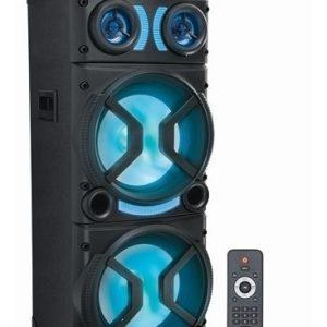 Bocina 2x12 Recargable Bluetooth Usb Fm Link Luz Ksr 7314_0